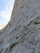 Rock Climbing Photo: Climbers on Pitch 1. This pitch ascends a 130-foot...