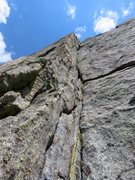 Rock Climbing Photo: Pitch 5. This is the money pitch of the route, asc...