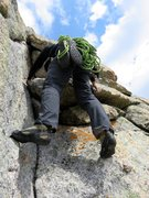 Rock Climbing Photo: Pitch 7. Some moves seemed more like low-5th to me...