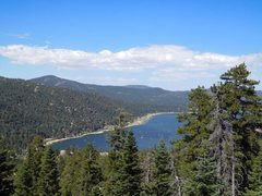 Rock Climbing Photo: Big Bear Lake from near Castle Grey Skull, Big Bea...