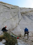 Rock Climbing Photo: At the base of the awesome corner. There was a par...