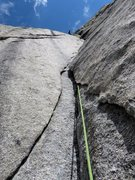 Rock Climbing Photo: Looking up the second corner pitch. Just more fun ...
