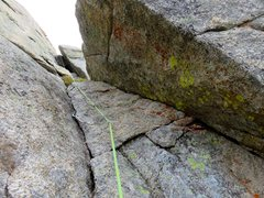 Rock Climbing Photo: Looking up the chimney on Pitch 5. Pretty easy cli...