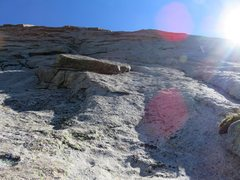 Rock Climbing Photo: The goal of this pitch is to get below the giant o...