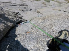 Rock Climbing Photo: Looking down Pitch 5. This pitch climbs the groove...