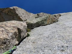Rock Climbing Photo: Pitch 8. Looking up the dihedral. This was one of ...