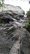 Rock Climbing Photo: After rope soloing, so more zig zag than normal. A...