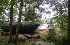 Rock Climbing Photo: the Balance Boulder.