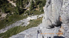 Rock Climbing Photo: Nicole climbing haystack