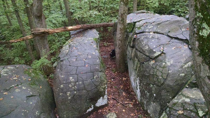 Old Toboggan boulders.