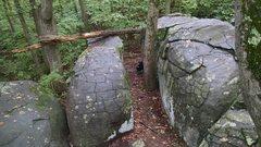Rock Climbing Photo: Old Toboggan boulders.