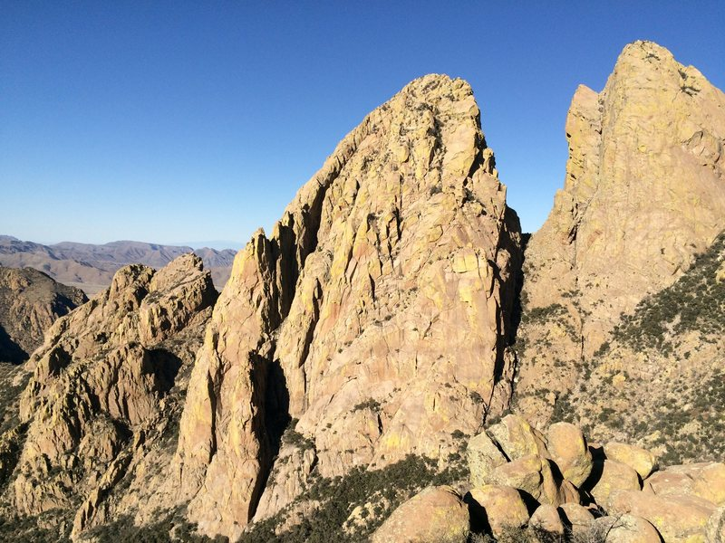 Rock Climbing Photo: North Rabbit Ear as viewed from Rabbit Ears Massif...