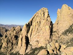 Rock Climbing Photo: North Rabbit Ear as viewed from Rabbit Ears Massif...