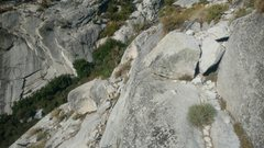 Rock Climbing Photo: On the Ebersbacher ledges during the approach thro...