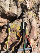 Rock Climbing Photo: I put a few cams in this crack, truly the only goo...