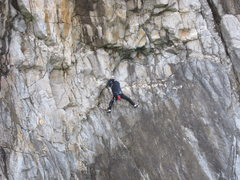 Rock Climbing Photo: I thought the slab pitches (although pretty steep ...