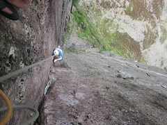 Rock Climbing Photo: Long, steep and pumpy pitch.  Today's standard...