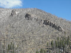 Rock Climbing Photo: Ghost Town from the Waterline Road. The Main area ...