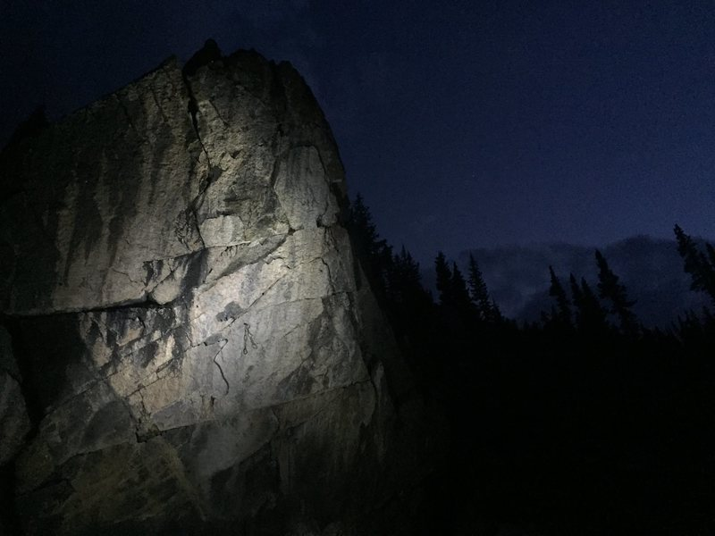 Night climbing is what it takes some time.