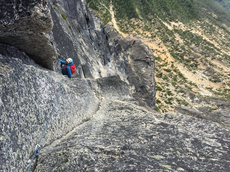 """Rock Climbing Photo: If you choose the """"scary slab"""" option as..."""