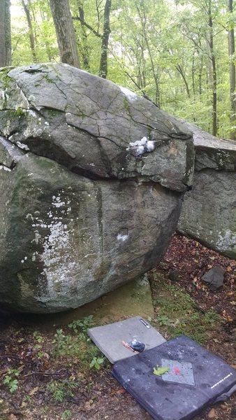 Old Toboggan boulder.