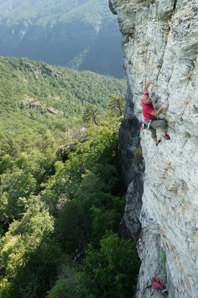 Rock Climbing Photo: pitch 2 courtesy of Kyles Jones at bluewallphotogr...