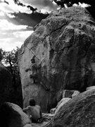 Rock Climbing Photo: B&W Tram Slot Perfection!!