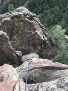 Rock Climbing Photo: The first huge gap.  Scramble down west to a tree....