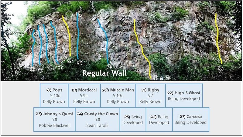 Rock Climbing Photo: Regular Wall - Vertical wall and corner system to ...