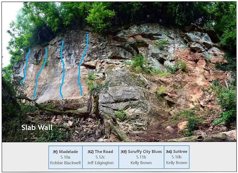 Rock Climbing Photo: Slab Wall - Gray slab to slightly overhanging wall...
