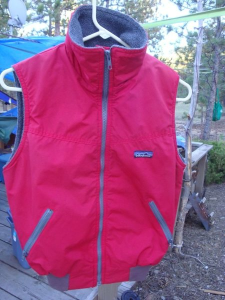 Rock Climbing Photo: Shelled Synchilla fleece vest for youth or teens.