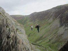 Rock Climbing Photo: Via Farrata Honister Pass Borrowdale