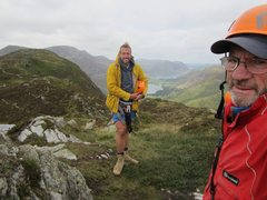 Rock Climbing Photo: On top of Honister Crag  Via Ferrata ... Buttermer...