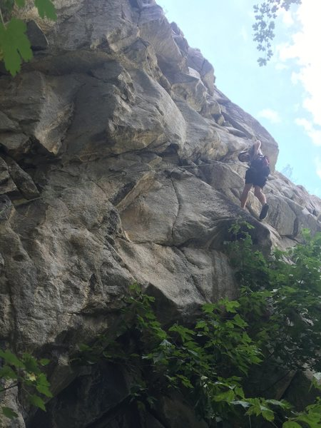 Rud working the crux