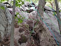 Rock Climbing Photo: Dragon left from SSW D. Dragon's Throat . . vD...