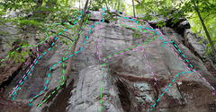 Rock Climbing Photo: Dragon sector from S D. Dragon's Throat . . vD...
