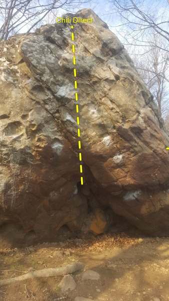 Rock Climbing Photo: Starts in Hueco climbs straight up to the point.