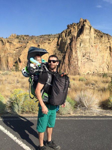 Smith Rock climbing dad