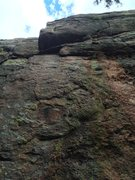 Rock Climbing Photo: The route goes straight up the center of the photo...
