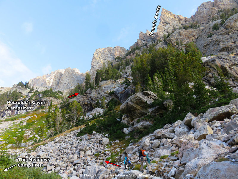 Rock Climbing Photo: Approach to Irene's Arete