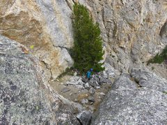 Rock Climbing Photo: The standard way to do Pitch 6 is to descend 150 f...