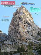 Rock Climbing Photo: Route Overlay for Irene's Arete.
