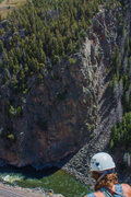 Rock Climbing Photo: View of Apple Cider Wall from the other side of th...