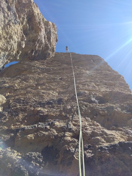 Rock Climbing Photo: The glorious Pitch 3! Get out on the arete near th...