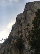 Rock Climbing Photo: J-sexy workin the crux on Lisa's fiiiiiine sho...