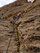 Rock Climbing Photo: Beginning of pitch two from the notch at the top o...