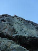 Rock Climbing Photo: Alissa past the crux on Head Arete.