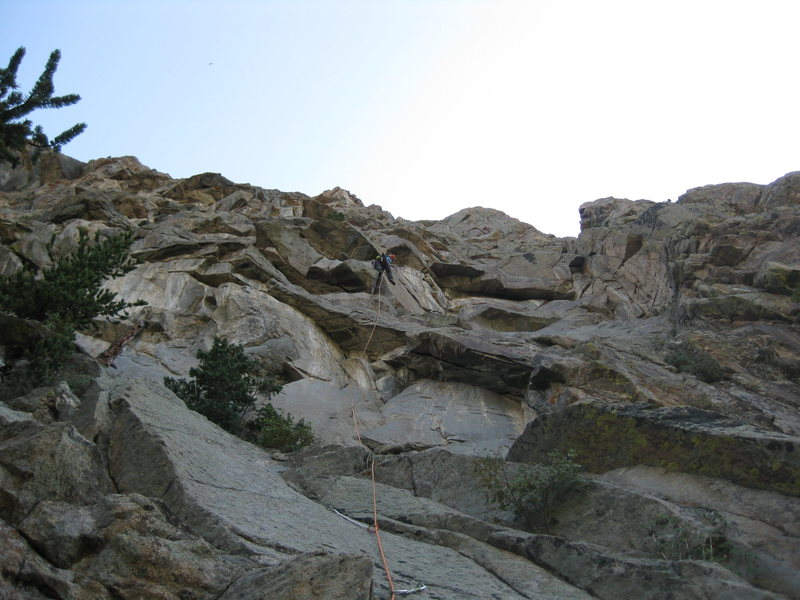 Rock Climbing Photo: Pitches 1 and 2.