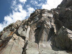 Rock Climbing Photo: Sorkin making the 13 pitch look casual!