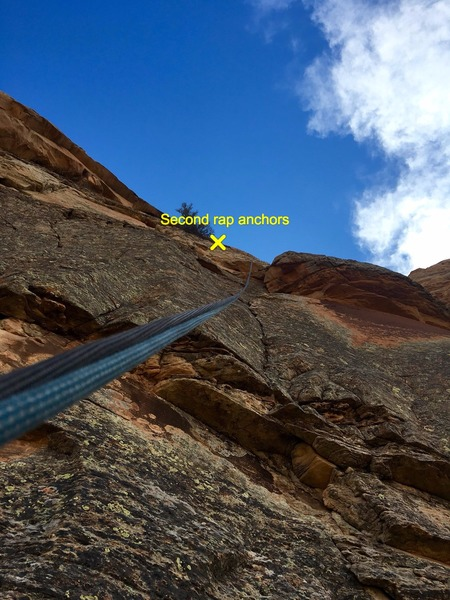 Rock Climbing Photo: This is the rappel from the top of the climb, it g...